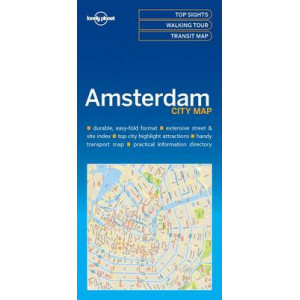 Lonely Planet Amsterdam City Map 2016