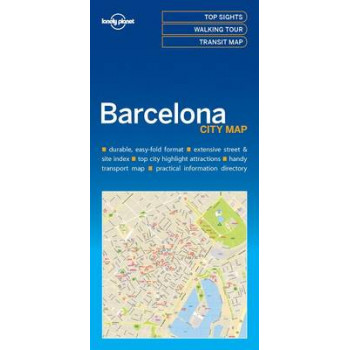 Lonely Planet Barcelona City Map 2016