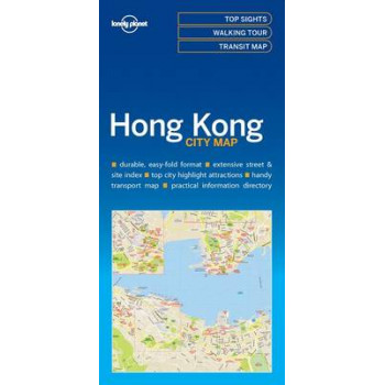 Lonely Planet Hong Kong City Map 2016