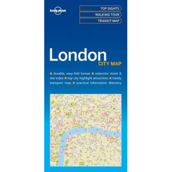 Lonely Planet London City Map 2016