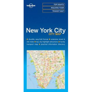 Lonely Planet New York City Map 2016