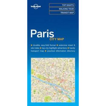 Lonely Planet Paris City Map 2016