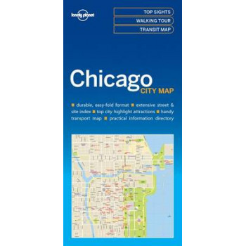 Lonely Planet Chicago City Map 2017