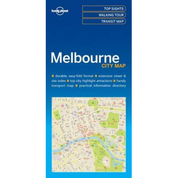 Lonely Planet Melbourne City Map 2017