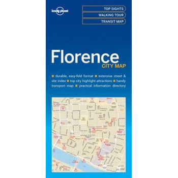 Lonely Planet Florence City Map 2017