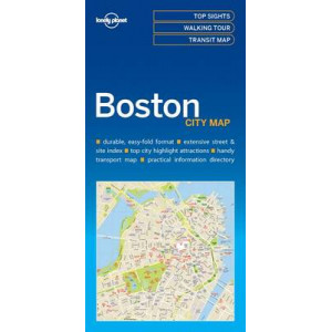 Lonely Planet Boston City Map 2017