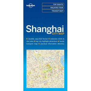 Lonely Planet Shanghai City Map 2017