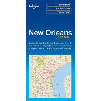 Lonely Planet New Orleans City Map 2017