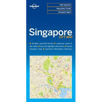 Lonely Planet Singapore City Map 2017