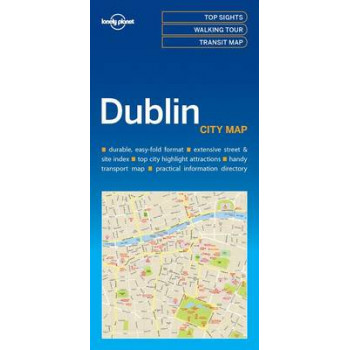 Lonely Planet Dublin City Map 2017