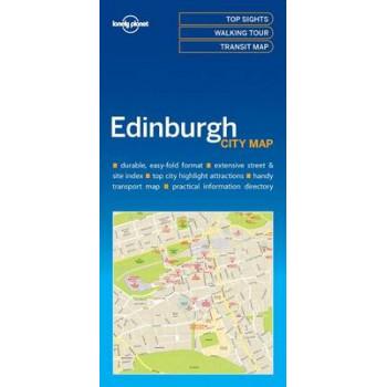 Lonely Planet Edinburgh City Map 2017