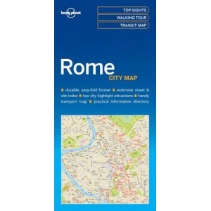 Lonely Planet Rome City Map 2016