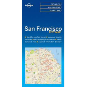 Lonely Planet San Francisco City Map 2016