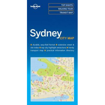 Lonely Planet Sydney City Map 2016