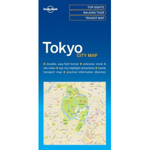 Lonely Planet Tokyo City Map 2016
