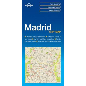 Lonely Planet Madrid City Map 2017