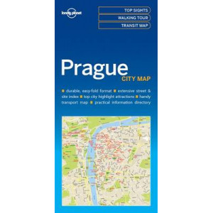 Lonely Planet Prague City Map 2017