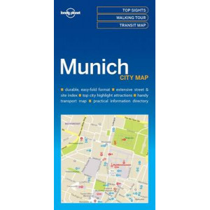 Lonely Planet Munich City Map 2017