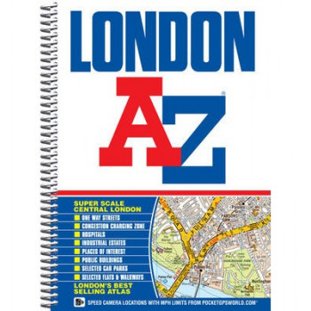 London A - Z Street Atlas Spiral Bound Edn
