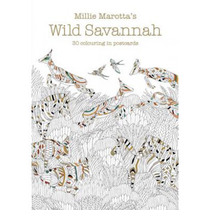 Millie Marotta's Wild Savannah Postcard Book: 30 Beautiful Cards for Colouring in