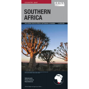 Southern Africa Map Deluxe