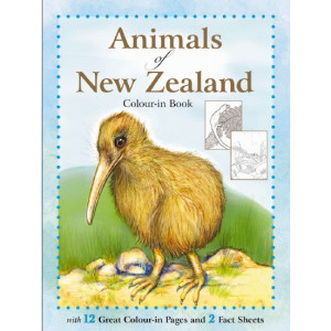 Animals of New Zealand Colouring-in Book