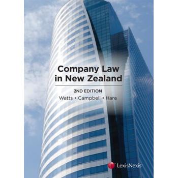 Company Law in New Zealand 2E