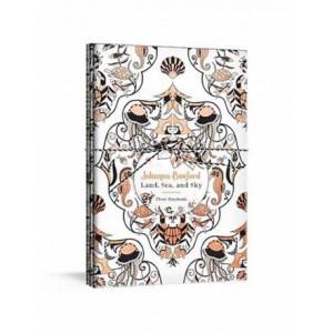 Johanna Basford Land, Sea, and Sky: Three Colourable Notebooks
