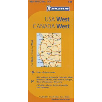 Michelin USA West, Canada West Map
