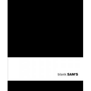 Sams 15x18 Blank Black Notebook