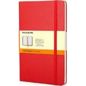 Moleskine Classic Hard Cover Notebook Ruled Pocket Red