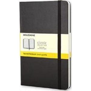 Moleskine Classic Hard Cover Notebook Grid Pocket Black