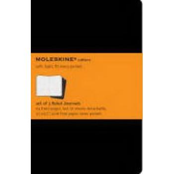 Moleskine Cahier Notebook Set of 3 Ruled Pocket Black