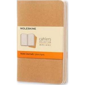 Moleskine Cahier Notebook Set of 3 Ruled Pocket Kraft