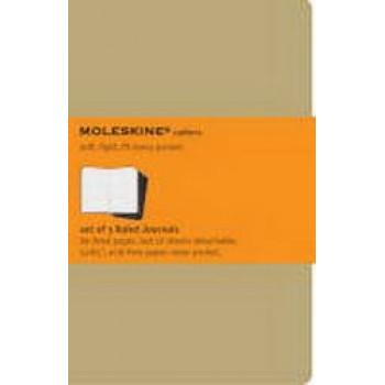 Moleskine Cahier Notebook Set of 3 Ruled Large Kraft