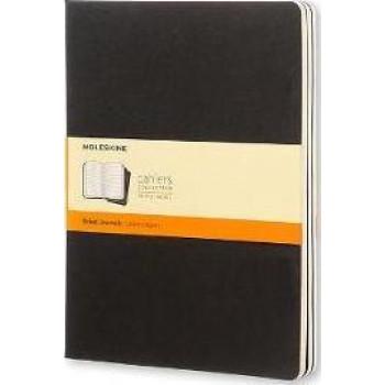Moleskine Cahier Notebook Set of 3 Extra Large Ruled Black