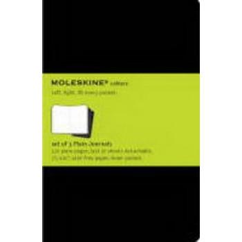 Moleskine Cahier Notebook Set of 3 Plain Extra Large Black