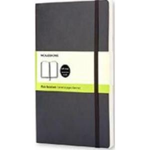 Moleskine Classic Soft Cover Notebook Plain Pocket Black