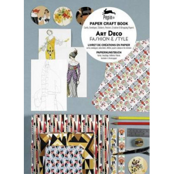 Art Deco Fashion & Style : Paper Craft Book with Cards, Envelopes, Stickers, Posters, Creative and Wrapping Papers